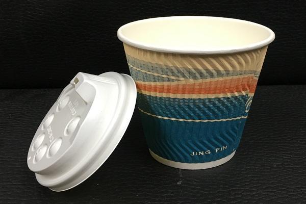 12安士8安士彩印雙層隔熱紙杯配黑白色凸蓋