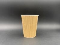 8oz 咖啡紙杯 (直坑紋)