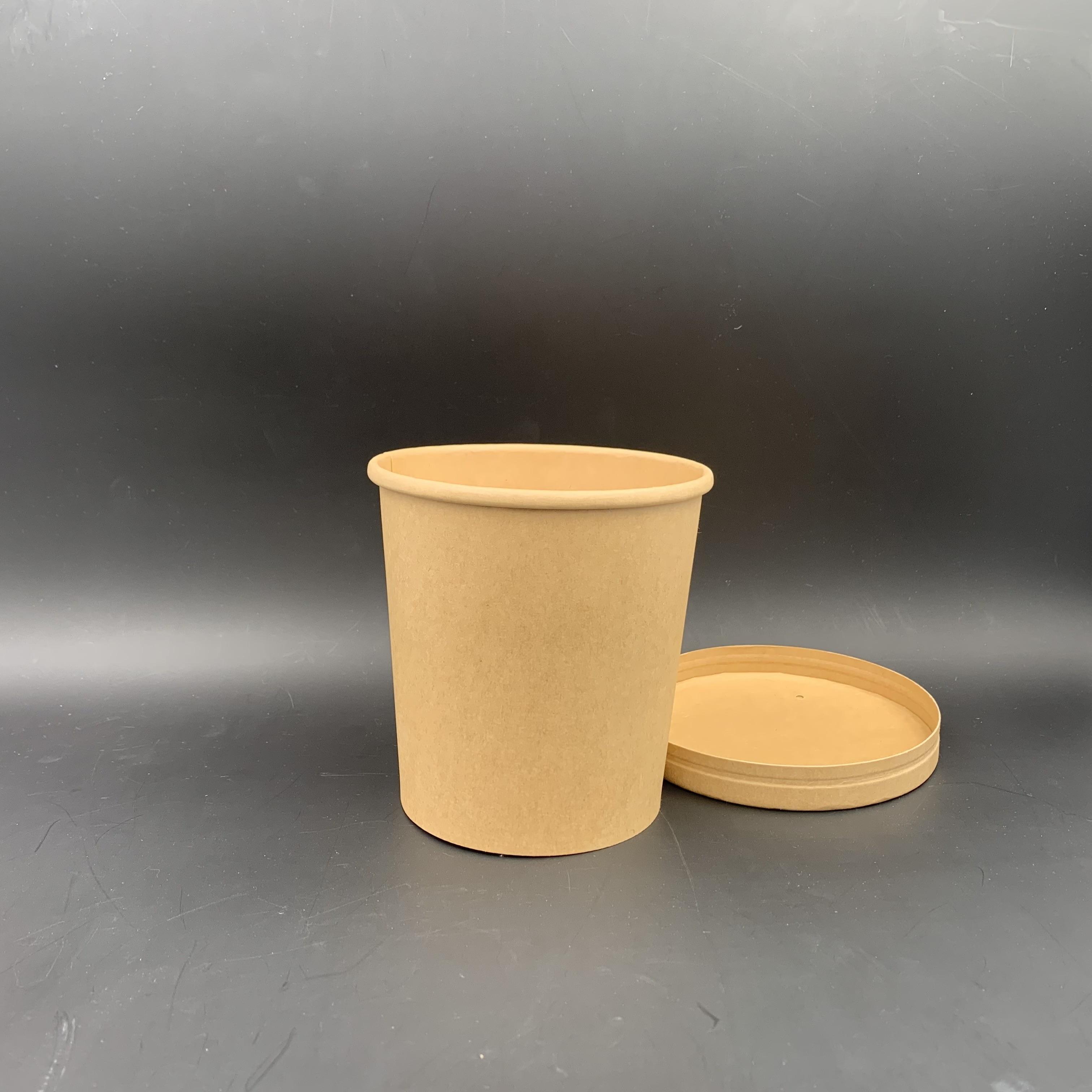 32oz 牛皮紙湯桶配紙蓋