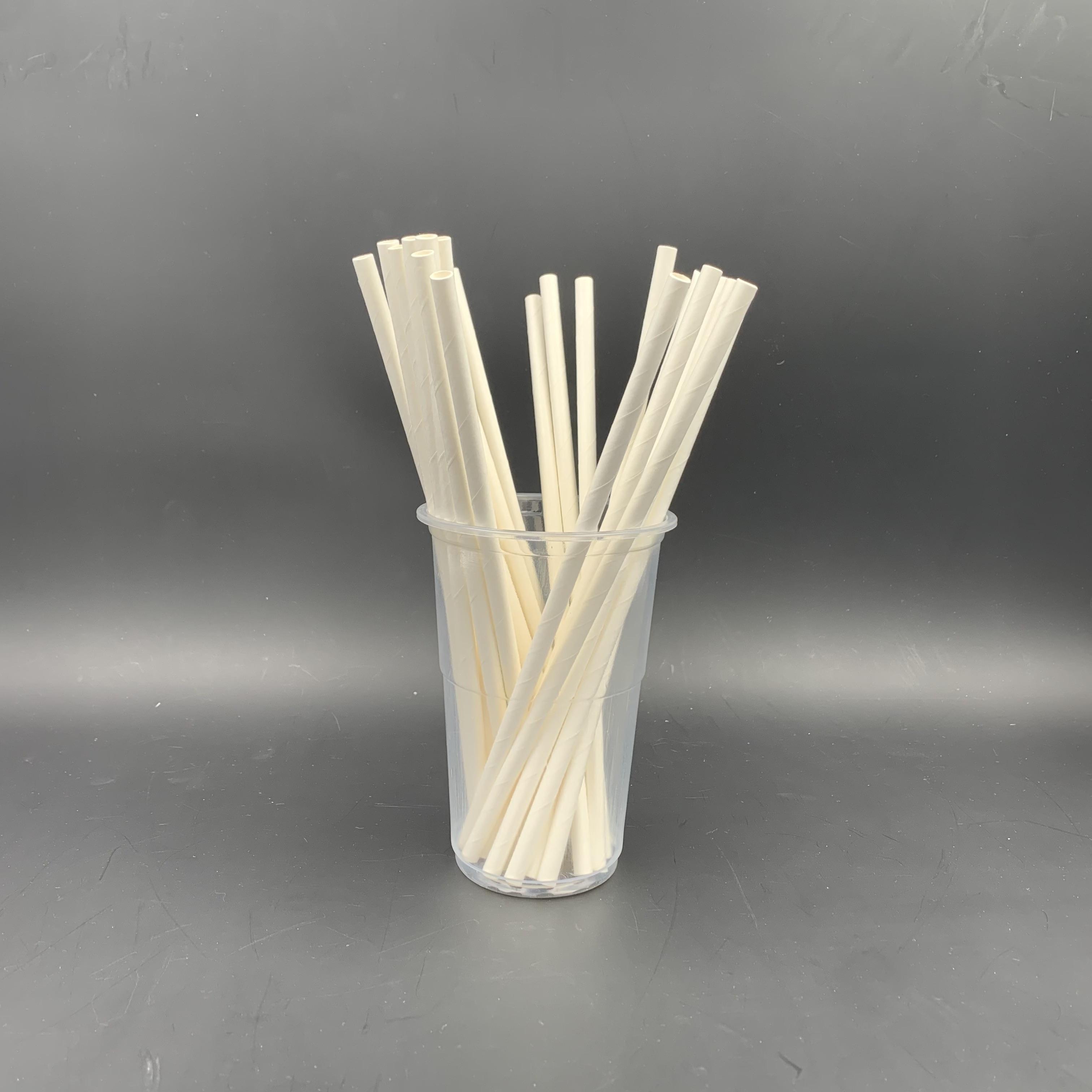 6x197mm白色紙吸管